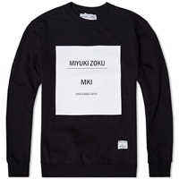 Mki Box Print Sweat Black