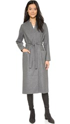 Just Female Ray Long Coat Grey Melange
