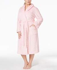 Nautica Plus Size Plush Robe Orchid Pink