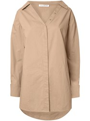 Camilla And Marc Parker Loose Fit Cotton Shirt Brown