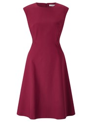 John Lewis Savannah Fit And Flare Dress Raspberry
