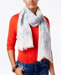 Inc International Concepts Butterfly Oblong Scarf Only At Macy's Chambray