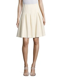Tommy Hilfiger Pleated A Line Skirt Ivory