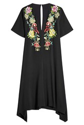 Etro Embroidered Dress With Handkerchief Hem