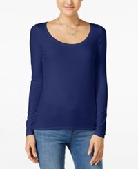 Energie Juniors' Judy Scoop Neck Tee Medieval Blue