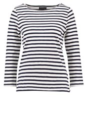 J.Crew Long Sleeved Top Ivory Navy Off White