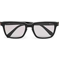 Brioni Square Frame Acetate Sunglasses Black