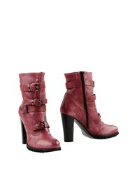 Le Crown Footwear Ankle Boots Women Garnet