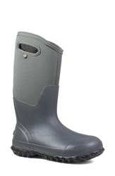 Bogs Classic Tall Matte Insulated Rain Boot Dark Grey