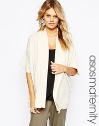 Asos Maternity Cardigan In Cut About Ribs Cream