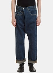 J.W.Anderson Front Fold Jeans Blue