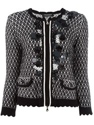 Twin Set Embellished Knit Jacket Black