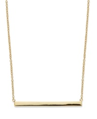 Studio Silver 18K Gold Over Sterling Silver Necklace Bar Necklace No Color