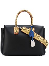 Mcm Milla Exotic Tote Women Calf Leather One Size Black