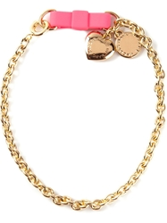 Marc By Marc Jacobs 'Bow Tie With Puffy Heart' Bracelet Metallic