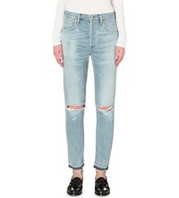 Citizens Of Humanity Liya Classic Fit High Rise Jeans Torn