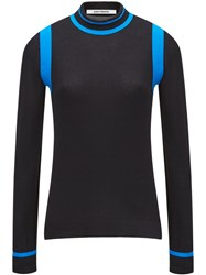 Paco Rabanne Graphic Knit Sweater Black