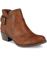 American Rag Edee Ankle Booties Only At Macy's Women's Shoes Cognac