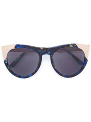 Smoke X Mirrors 'Zoubisou' Sunglasses Blue