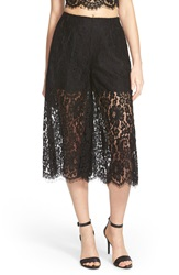 Keepsake The Label 'Lace Script' Culottes Black