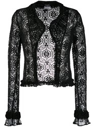 Chanel Vintage 2004'S Crochet Cardigan Black