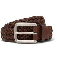 Brunello Cucinelli 3Cm Brown Braided Leather Belt