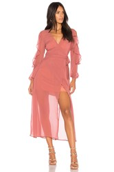 The Fifth Label Brushstrokes Maxi Dress Rose