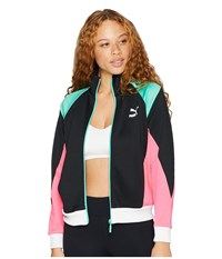 Puma Retro Track Jacket Black Knockout Pink Coat
