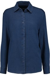 J Brand Pacific Cotton And Silk Blend Shirt Blue