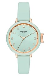 Kate Spade Women's New York Park Row Silicone Strap Watch 34Mm Mint Gold