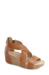 Women's Josef Seibel 'Meike 05' Wedge Sandal Camel Leather