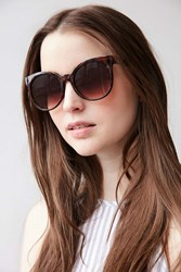 Urban Outfitters Downtown Preppy Cat Eye Sunglasses Brown