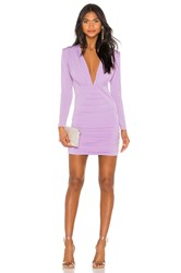 Nookie Temptation Long Sleeve Mini Dress Lavender