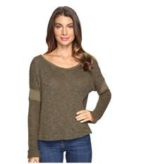 Lamade Otto Top Olive Night Women's Long Sleeve Pullover Green