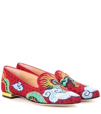 Charlotte Olympia Dragon Woven Loafers Multicoloured