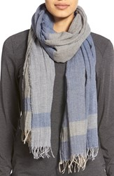 Women's Lafayette 148 New York 'Inspiring Stripe' Wool Scarf