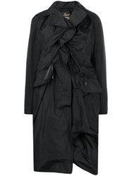 Vivienne Westwood Anglomania Ruched Front Coat Black