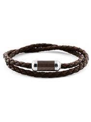 Tateossian Montecarlo Bracelet Dark Brown