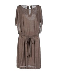 Malo Dresses Knee Length Dresses Women Khaki