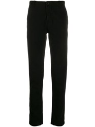 Transit Straight Leg Chino Trousers Black