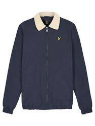 Lyle And Scott Shearling Lined Bomber Jacket Navy