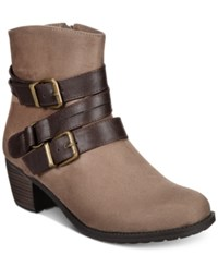 Easy Street Shoes Coby Booties Women's Taupe Super Suede Brown