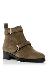 Tabitha Simmons Suede Aggy Boots Green