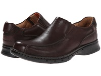 Clarks Un.Seal Brown Leather Men's Slip On Shoes