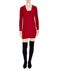 Sandro Leila Shift Dress Burgundy
