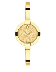 Movado Bela Pvd Finished Stainless Steel Bangle Bracelet Watch Gold