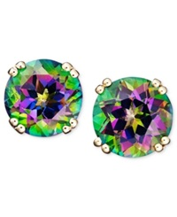 Macy's 14K Gold Earrings Mystic Topaz Studs 4 1 2 Ct. T.W.