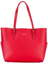 Lancaster Lateral Pockets Shopping Bag Women Leather Polyurethane One Size Red