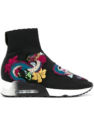 Ash Embroidered Sock Sneakers Black