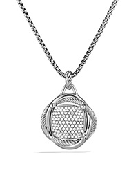 David Yurman Infinity Large Pendant With Diamonds Silver